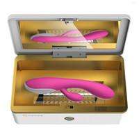 Wholesale portable ozone - Rosa Rugosa Portable Ultraviolet rays Plus Ozone Sterilization Box to make the sex toys producnts for Quick cleaning protect woman healthy