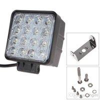 Wholesale Leds 48w - 3200 Lumen 48W High Power 16X 3W Bead LEDs Square Offroad LED Work Light