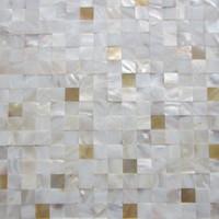 paredes amarillas de la cocina al por mayor-¡Nuevo! Labios amarillos 7% madre perla mixta; azulejos contra salpicaduras de cocina; baño espejo azulejo backspalsh pared; azulejos de perlas blancas