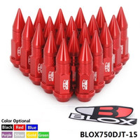 Wholesale Wheel Jdm - BLOX 20PC Racing JDM Style 50MM Aluminum Extended Tuner Wheel Lug Nuts With Spike For Wheels Rims M12X1.5 BLOX750DJT-15
