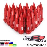 rote radnüsse großhandel-Tansky - 20PC Racing JDM Style 50MM Aluminium Extended Tuner Radmuttern mit Spike für Felgen M12X1.5 BLOX750DJT-15