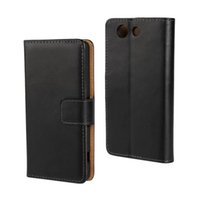 Wholesale Wholesale Xperia S Cases - 100% GENUINE Wallet Credit Card Stand Leather Case For Sony Xperia miro ST23i P Lt22i S Lt26i SP M35h T Lt30p U St25i Xperia V Lt25i 50PCS L
