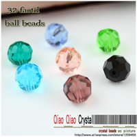 Wholesale Crystal Earth Jewelry - Wholesale-Crystal beads, 70pcs lot ,32 facted earth beads,jewelry accessories 8MM glass disco glass crystal ball beads