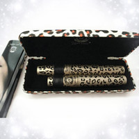 Wholesale love alpha mascara set for sale - Group buy New Waterproof LOVE ALPHA Double Brand Mascara with Panther Leopard Case Set Mascaras