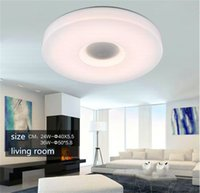 Wholesale Bluetooth Surface Speaker - NEW- APP Control LED Music Ceiling Lights with Bluetooth Sound Speaker, APP Control, RGB Dimming 24W AC85-265V LED ceiling Lamp