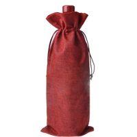 ingrosso borse borgogne-Sacchetti regalo bottiglia di vino all'ingrosso 16 * 36cm Borgogna decorazioni vino di Natale sacchetti pieghevoli forniture Festive