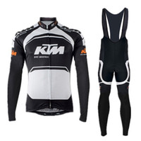 Wholesale Ktm Short - bicicleta cycling jersey ktm long sleeves  bib shorts riding bike sportswear black-orange-white roupa ciclismo 2015 new arrivals