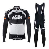 Wholesale Bike Ktm - bicicleta cycling jersey ktm long sleeves  bib shorts riding bike sportswear black-orange-white roupa ciclismo 2015 new arrivals