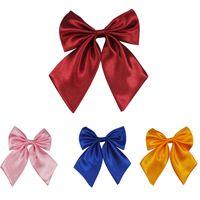 Wholesale Normal Dresses For Women - 2015 Dress Women Men Bow Ties Artificial silk Flight attendant&Waiter Business attire bowknot Wedding Meeting bowtie For Female woman Passpo