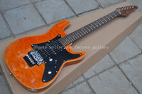 Wholesale Quilt Maple Guitar - OEM Factory Suhr custom shop electric guitar, luxury quilt calls in the body, see through yellow guitar back, floyd rose tremolo!