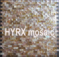 Wholesale Parquet Tiles Flooring - Home Improvement 10X20 Natural shell mosaic Tile Backsplash Freshwater Shell Mother Of Pearl Mosaic Tile Kitchen Bathroom Floor