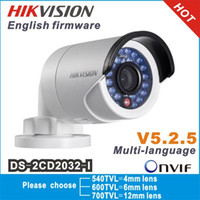 Wholesale Gun Mini Camera - Hikvision Original gun waterproof security network cctv camera DS-2CD2032-I 3MP IR ip camera mini support POE