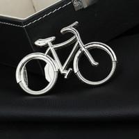 Wholesale Metal Keychain Promotional Gift - Wholesale Fashionable Bicycle Metal Bottle Opener Can opener with Keyring Keychain Promotional Gift Free shipping wen4501