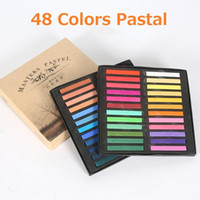 Wholesale draw crayons - 48 Color Marie's Watercolor Painting Crayons Chalk Water Color Paint Soft Pastel Art Drawing Set Stationery for Student