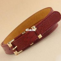 Wholesale New Arrive Delicate Female grainy faux leather belt grain waist belt for Lady trend Free Size