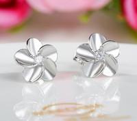 Wholesale plum blossom earrings for sale - Group buy 925 Sterling Silver Stud Earrings Fashion Jewelry Little Wintersweet Plum Blossom Zircon Diamond Crystal Earring for Women Girls