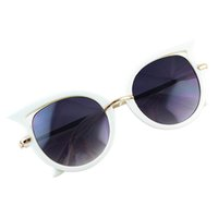 Wholesale Polycarbonate Shapes - Geometric Cool Round Shape Polycarbonate Frames Sunglasses with Free Glasses Boxes New Summer For Women
