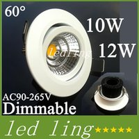led COB LED Downlight 10w 12w Epistar Dimmable encastré Down Light Ceiling Espagne Style Bedroom LED Lamp + Driver Warranty Livraison gratuite