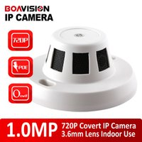 Wholesale Indoor Camera Covert - H.264 Covert Wired IP Camera with POE Port 1.0MP 720P HD Onvif P2P Function Security Indoor Network Dome Cameras Smoke Style Hidden