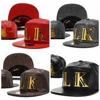 Wholesale Lk Leather - Wholesale-2015 LK Last Kings Caps Leopard Baseball Hip Hop Hats Casquette Sport Adjustable Snapback A Leather Cheap Free Shipping SD08116