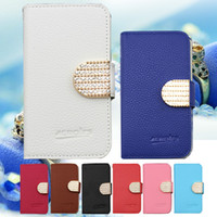 Wholesale Wallet Xl - For LG Aristo Metropcs LV3 V3 MS210 K8 2017 ZTE Grand X4 Z956 metropcs Wallet Case Google Pixel XL diamond bling Rhinestone Leather