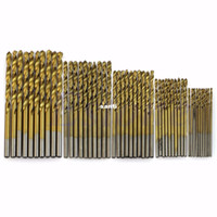 Wholesale drill bits drilling resale online - 50 Titanium Coated HSS High Speed Steel Drill Bit Set Tool mm