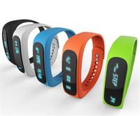 sağlık bilek bilezik toptan satış-Akıllı Bilek İzle E02 Smartband Su Geçirmez Bluetooth Spor Izci Sağlık Bilezik Spor Bileklik Dişli Android IOS Için Fit