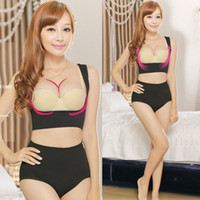 Wholesale Open Bras Up - Seamless Open-Bust Cami Shapping Tops Bust Lifts Up Bra Vests Enhancer Shapewear