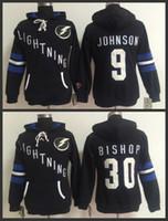 Wholesale Womens Sweaters Xxl - 2015 New Tampa Bay Lightning Womens Sweaters #9 Tyler Johnson #30 Ben Bishop Black Ice Hockey Hoodies Jersey