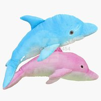 Wholesale cheap giant toy for sale - cheap Giant Huge Big quot Pink Blue Dolphin Stuffed Plush Animal