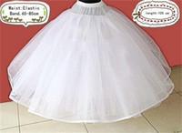 petticoat hat topu elbisesi toptan satış-Stokta Ucuz Petticoat Balo Gelin Elbiseler Düğün Aksesuar Jüpon (bel boyutu: 65-85 cm uzunluk: 105 cm) Undergarment Sıcak Satış