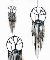 hayal tutucu stili toptan satış-El yapımı Hayat Ağacı Dream Catcher Tüy Boncuk Kolye Düğün Stil Dreamcatcher Araba Asılı Ev Dekor Hediye D365L