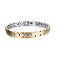 Wholesale Magnetic Tungsten Steel Bracelet - New Design Popular high-grade Trendy XMAS' gift 26g energy health magnetic pure Tungsten steel 7mm men women Bracelet jewelry gold&Silver