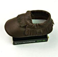 baby fransen stiefel großhandel-Baby erste Wanderer Schuhe Quaste reine Farbe Neugeborenes Baby Mokassins weiches Leder Moccs Baby Booties Kleinkind Kinder Kind Säuglingsschuhe mit Fransen