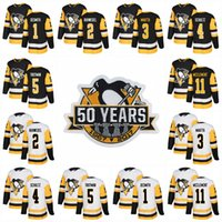 Pittsburgh Penguins 50th Patch Women 2018 23 Scott Wilson 25 Tom Sestito 28 Ian Cole 34 Tom Kuhnhackl 43 Conor Sheary Hockey Jerseys