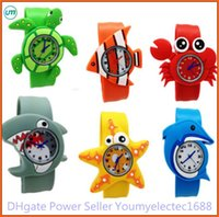 Wholesale Animal Slaps - New Arrival 2014 Hot Models Ocean Animal Series Slap Watch Cute Animal Cartoon Slap Snap Watch Silicone Wrist Watch for Children Gift