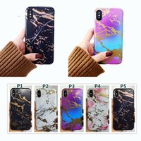 Wholesale Luxury Chrome Case - Luxury Marble Chrome Case Frosted Soft TPU Fashion Defender Cover For iPhone X 8 7 6 6s Plus Shockproof Cases