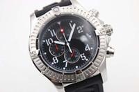 спортивные наручные часы белые оптовых-Горячая распродажа новый серебряный циферблат черный резиновый морской волк хронограф пояса мужские белые часы из нержавеющей указателя мужские спортивные наручные часы часы