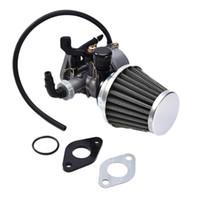 Wholesale Fuel Carburetor - 19mm PZ19 Hand Choke Carburetor Carb Intake Pipe Air Filter Fuel Filter 50cc 70cc 90cc 110cc 125cc For Taotao Sunl Quad ATV