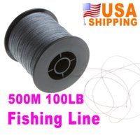 Wholesale Dyneema Braided Line - US STOCK US Stock To USA CA 500M 100LB Extreme High Power Braided Fishing Line Dyneema Strong Braided Fish Lines UPS Free 5Pcs Wholesale