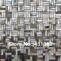 cuisine de dosseret de mère perle achat en gros de-Gros shell mosaïque carrelage mère de tuiles de nacre cuisine dosseret fond mur mosaïques carrelage amélioration de l'habitat livraison gratuite