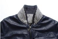 Wholesale Jacket Micro - Fall-New 2015 fashion autumn classic style micro elastic casual motorcycle leather jacket men plus size jaqueta de couro masculino