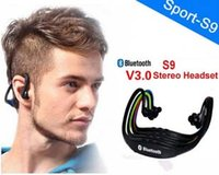 Wholesale Iphone Inear - S9 Stereo Headset Sports Bluetooth Speaker Headset Wireless Neckband Headphones InEar Earphone Hifi Music Player For iPhone 6 Plus Note4
