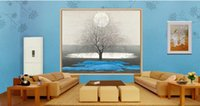 Wholesale plants tree painting for sale - Group buy Chinese painting life tree sun landscape painting d wallpapers bathroom