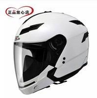 Wholesale Sol Helmets - Wholesale-SOL SO-1 motorcycle helmet half helmet grade portfolio dual lens fogging helmet full helmet