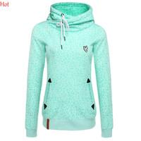 Wholesale Girls Leopard Print Tracksuit - Quality Hoodies Leopard Print Women Sweatshirt 2016 Fashion Tracksuits Full Sleeve Design Girl Slim Green Pullover Hoodies Moleton SV028800