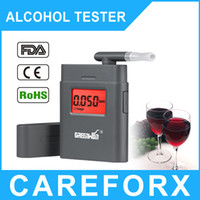 Wholesale Digital Breath Alcohol Tester Mouthpieces - 2016 Factory price Breathalyzer AT-838 Digital Breath Alcohol Tester with mouthpiece High Quality digit LCD Alcohol Tester Clock
