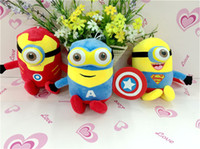 Wholesale minion plush stuffed online - 6 Characters cm MINIONS dolls inch The NEW Avengers Plush dolls cm anime toys minions cartoon dolls Stuffed toys soft