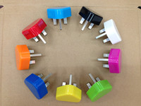 Wholesale Iphone 5s Uk Plug - DHL Free Travel UK Plug USB Wall Charger 5V 1A AC Adapter For Iphone 4s 5s 6s 7s plus