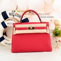Compra Q5 Mani-Top VIP french togo borsa in pelle mano cucita beewax kell 32 Q5 rouge casaque ghw / phw
